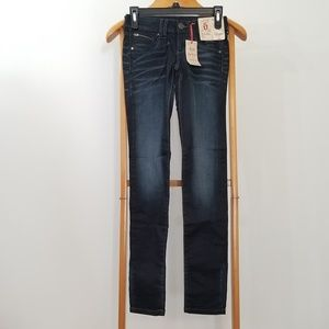 Decree Juniors 0 Blue Denim Super Skinny Jeans